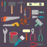 Vector building products icons. Stock Image