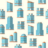 Vector building seamless pattern background Stock Image