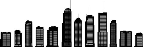Vector buildings. Vector business buildings, vector illustration Royalty Free Stock Photography
