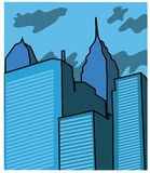 Vector buildings Stock Image