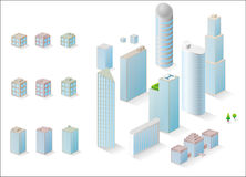 Vector buildings Royalty Free Stock Photo