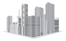 Vector buildings Royalty Free Stock Photos