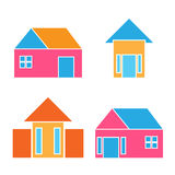 Vector buildings home house real estate logo Royalty Free Stock Photo