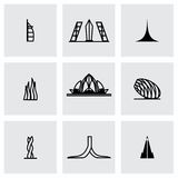 Vector Buildings icon set Stock Photography