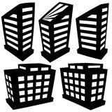 Vector buildings silhouettes Stock Photography