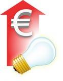 Vector bulb + arrow Stock Photography