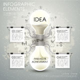 Vector bulb hourglass infographic elements Stock Images
