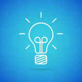 Vector bulb icon Royalty Free Stock Photography