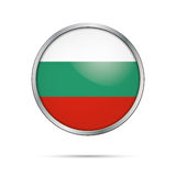 Vector Bulgarian flag Button. Bulgaria flag in glass button styl Royalty Free Stock Image