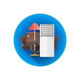 Vector bulky waste garbage icon Stock Photography