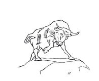 A vector Bull Stock Image