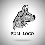 Vector Bull logo template for sport teams, business brands etc Royalty Free Stock Photo