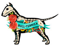 Vector bull terrier ilustración del vector
