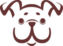 Vector bulldog puppy. Symbolic representation of the vector bulldog puppy Royalty Free Stock Photography