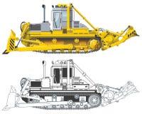 Vector bulldozer Royalty Free Stock Photography