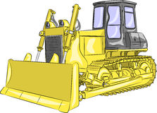 Vector bulldozer Stock Image
