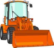 Vector bulldozer Stock Images