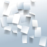 Vector bulletin board paper notes background Stock Photography