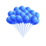 Vector bunch birthday or party blue balloons Royalty Free Stock Photo