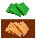 Vector - Bunch of files. Bunch of files arranged stock illustration