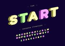 Vector bunte Art der mutigen Typografie des Anfangsgusses 3d Lizenzfreie Abbildung