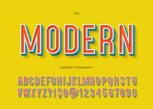 Vector bunte Art der Typografie des modernen Gusses 3d für Parteiplakat Lizenzfreie Abbildung