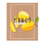 Vector bunte Illustration von Mangoscheiben in flachem Design styl Lizenzfreies Stockbild