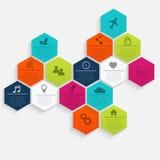 Vector bunte Informationsgraphiken für Ihre Geschäftsdarstellungen Lizenzfreie Stockbilder