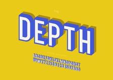 Vector bunte mutige moderne Typografie des Gusses 3d der Tiefe Vektor Abbildung