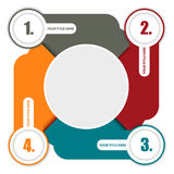 Vector bunten Hintergrundentwurf mit vier Schritten und setzen Sie für Lizenzfreie Stockbilder