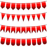 Vector bunting Stock Images