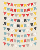 Vector bunting party flags Stock Photography