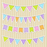 Vector Bunting Royalty Free Stock Photos