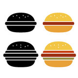 Vector burger icon Royalty Free Stock Images