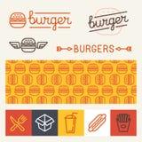 Vector burger logo design elements Stock Photography