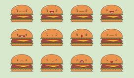 Vector burger set. Royalty Free Stock Image