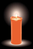 Vector burning candle Stock Photography