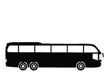 Vector bus. Silhouette a bus, vector illustration Stock Photography