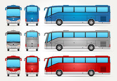 Vector Bus - Front - Back - Side view Stock Images