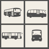 Vector bus icons Royalty Free Stock Photo