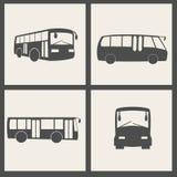 Vector bus icons. Dark gray vector bus icons Royalty Free Stock Photo