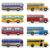 Vector bus icons Stock Images