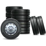 Vector Bus Wheel Set 2 Royalty Free Stock Photography