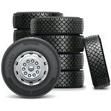 Vector Bus Wheels Royalty Free Stock Photos
