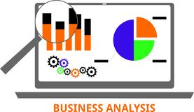 Vector - business analysis Royalty Free Stock Image