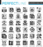 Vector Business analytics classic black mini concept icons and infographic symbols set. Vector Business analytics classic black mini concept icons and Royalty Free Stock Photography