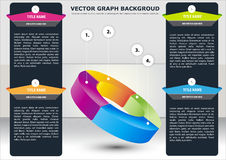 Vector business background with sectional chart Royalty Free Stock Photography