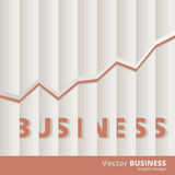 Vector Business Bar Chart Concept Stock Images