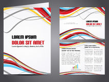 Vector business brochure Royalty Free Stock Photo