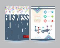 Vector business brochure cover template design. Stock Image